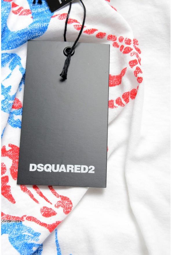 Dsquared2 Men's White Graphic Crewneck T-Shirt: Picture 6