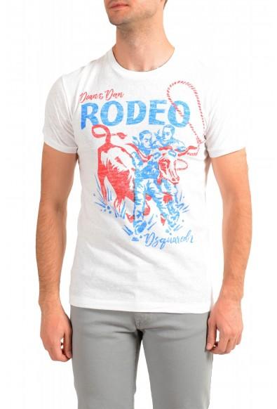 Dsquared2 Men's White Graphic Crewneck T-Shirt