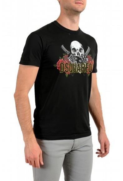 Dsquared2 Men's Black Graphic Crewneck T-Shirt: Picture 2
