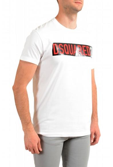 Dsquared2 Men's White Logo Print Crewneck T-Shirt: Picture 2