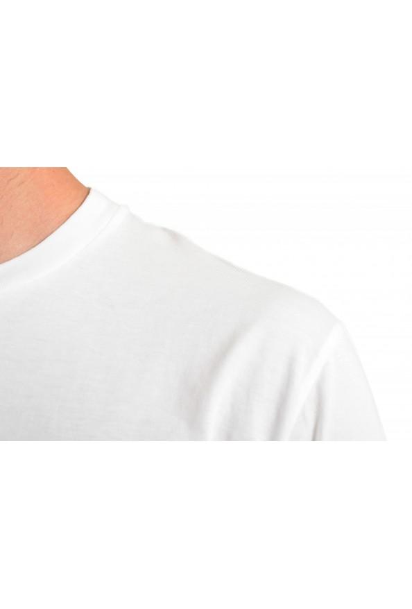 Dsquared2 Men's White Logo Print Crewneck T-Shirt: Picture 4