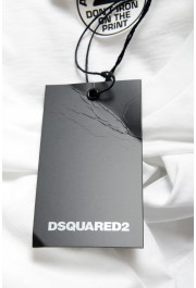 Dsquared2 Men's White Logo Print Crewneck T-Shirt: Picture 6