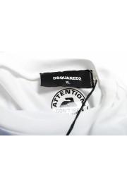 Dsquared2 Men's White Logo Print Crewneck T-Shirt: Picture 5
