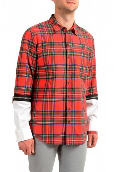 Dsquared2 Men's Multi-Color Plaid Long Sleeve Button Down Shirt: Picture 2