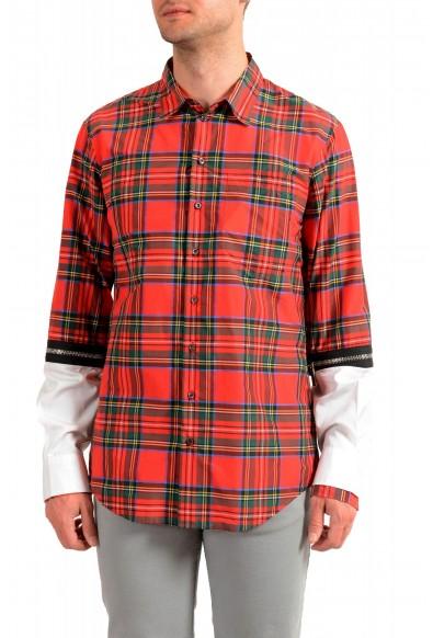 Dsquared2 Men's Multi-Color Plaid Long Sleeve Button Down Shirt