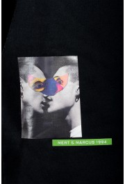 "Dsquared2 & ""Mert & Marcus 1994"" Men's Black Sleeveless Sweatshirt Hooded Vest: Picture 5"