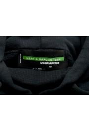 "Dsquared2 & ""Mert & Marcus 1994"" Men's Black Sleeveless Sweatshirt Hooded Vest: Picture 6"