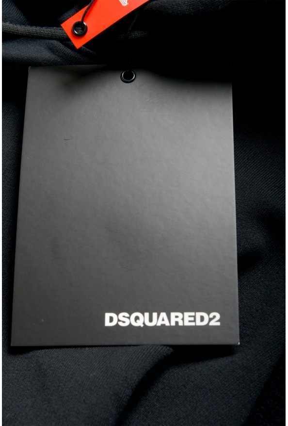 "Dsquared2 & ""Mert & Marcus 1994"" Men's Black Sleeveless Sweatshirt Hooded Vest: Picture 7"