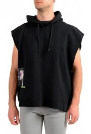 """Dsquared2 & """"Mert & Marcus 1994"""" Men's Black Sleeveless Sweatshirt Hooded Vest"""