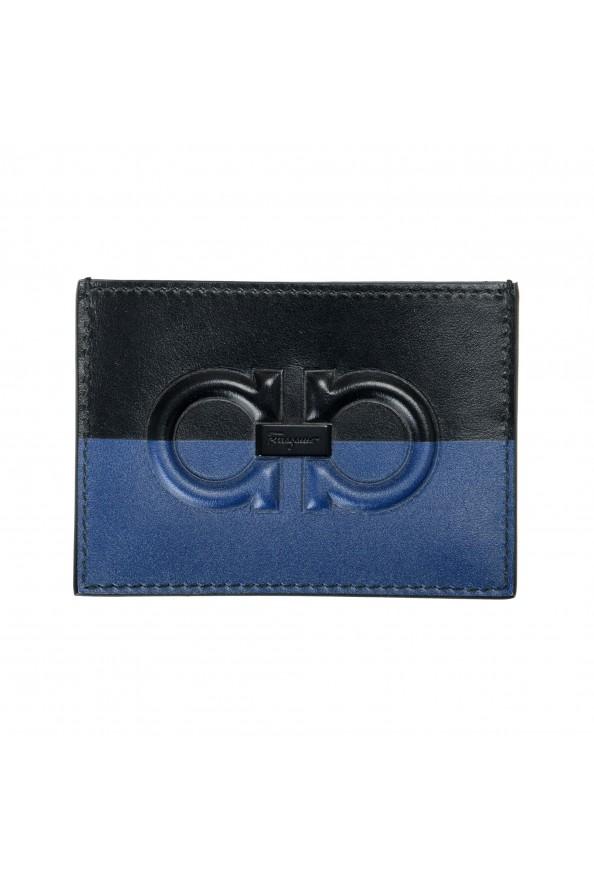 Salvatore Ferragamo Men's Logo 100% Leather Card Holder