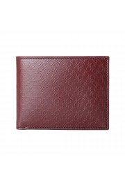 Salvatore Ferragamo Men's Burgundy Logo Print 100% Leather Bifold Wallet