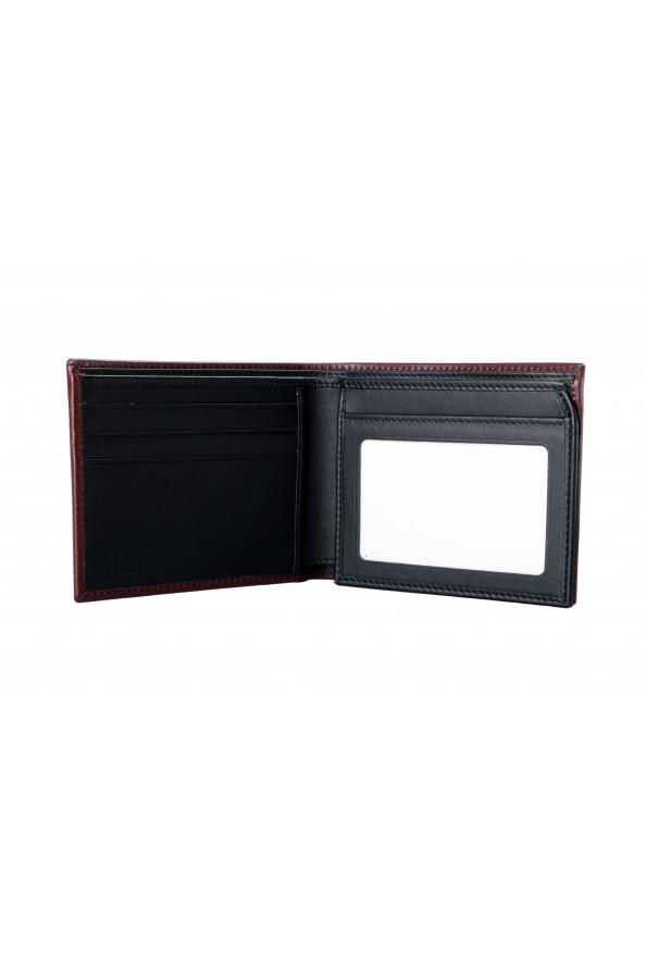 Salvatore Ferragamo Men's Burgundy Logo Print 100% Leather Bifold Wallet: Picture 2