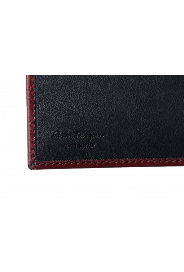 Salvatore Ferragamo Men's Burgundy Logo Print 100% Leather Bifold Wallet: Picture 3