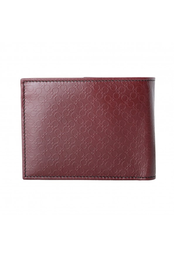 Salvatore Ferragamo Men's Burgundy Logo Print 100% Leather Bifold Wallet: Picture 4