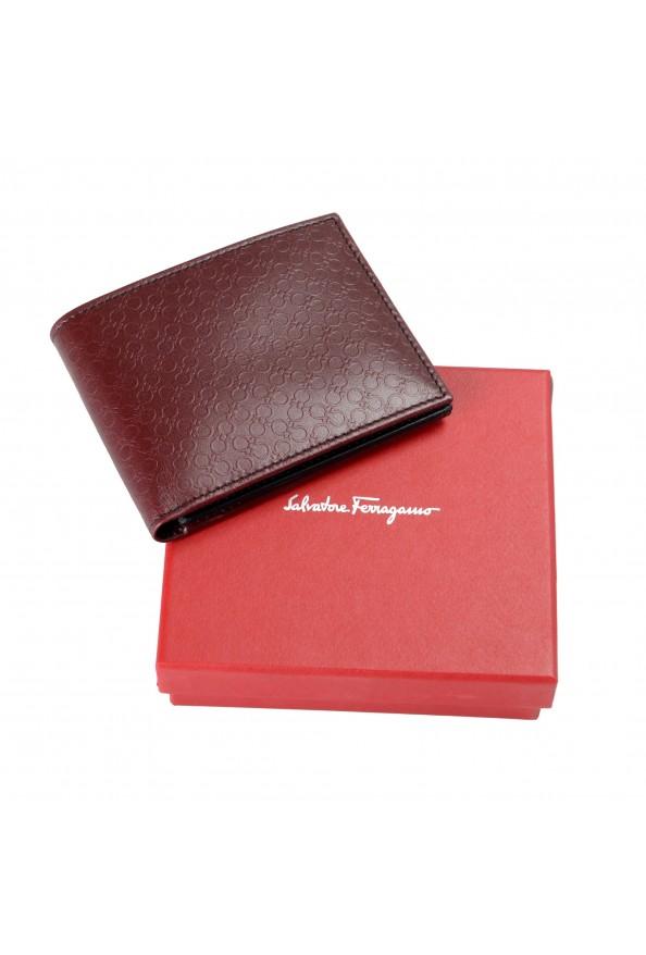 Salvatore Ferragamo Men's Burgundy Logo Print 100% Leather Bifold Wallet: Picture 5