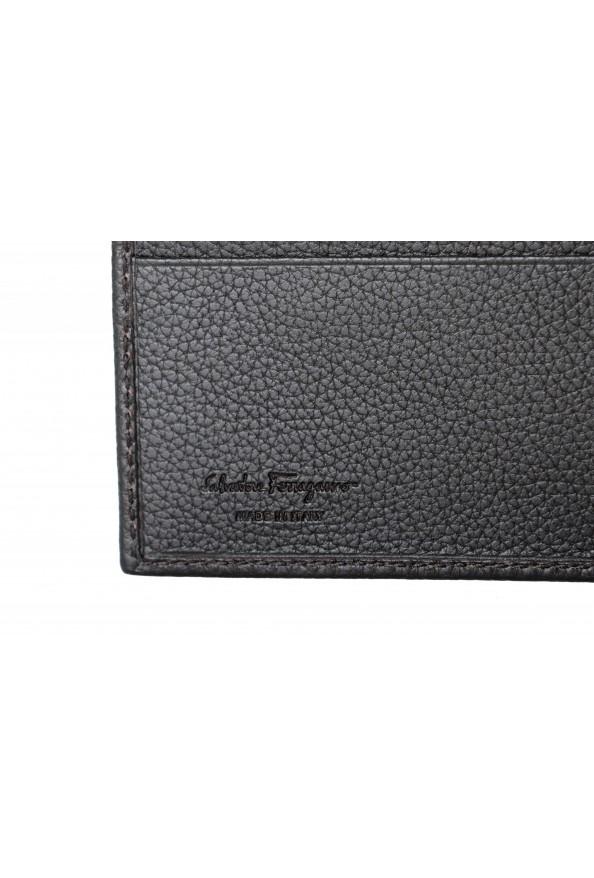 Salvatore Ferragamo Men's Dark Brown 100% Textured Leather Bifold Wallet: Picture 4