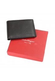 Salvatore Ferragamo Men's Dark Brown 100% Textured Leather Bifold Wallet: Picture 6