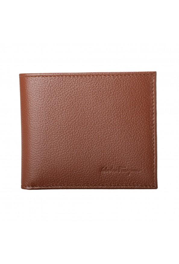 Salvatore Ferragamo Men's Brown 100% Textured Leather Bifold Wallet