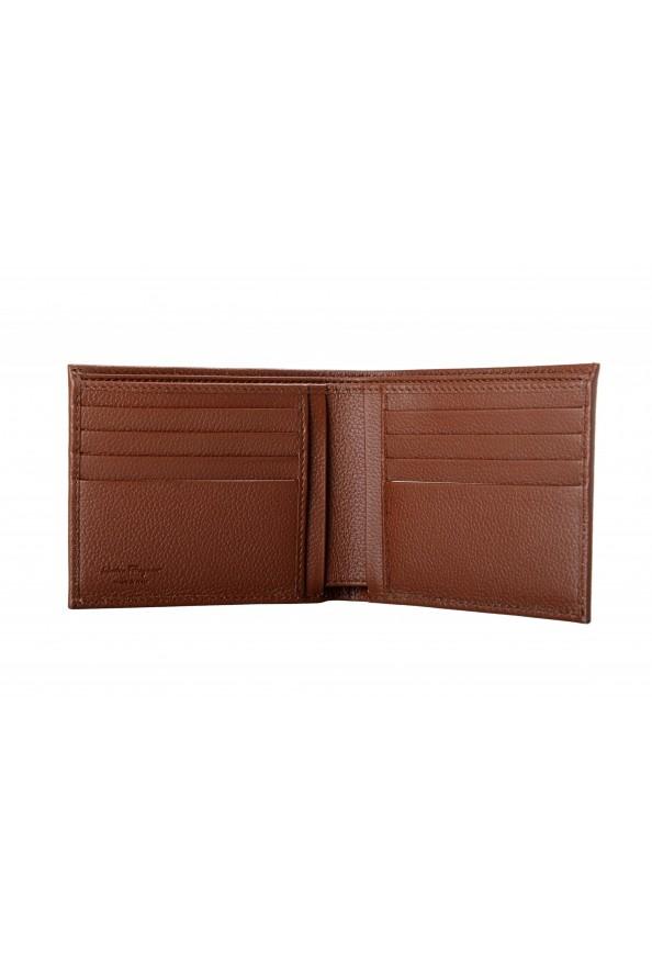 Salvatore Ferragamo Men's Brown 100% Textured Leather Bifold Wallet: Picture 3