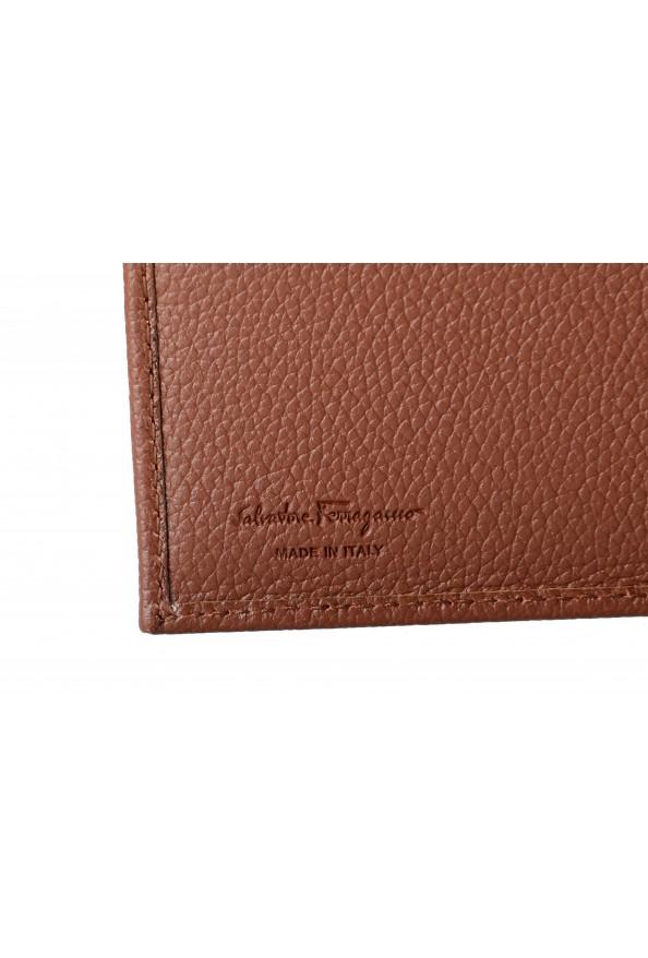 Salvatore Ferragamo Men's Brown 100% Textured Leather Bifold Wallet: Picture 4