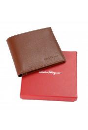 Salvatore Ferragamo Men's Brown 100% Textured Leather Bifold Wallet: Picture 6