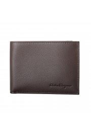 Salvatore Ferragamo Men's Dark Brown 100% Textured Leather Bifold Wallet