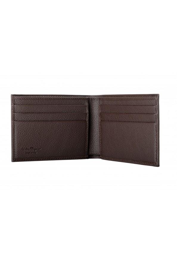 Salvatore Ferragamo Men's Dark Brown 100% Textured Leather Bifold Wallet: Picture 3