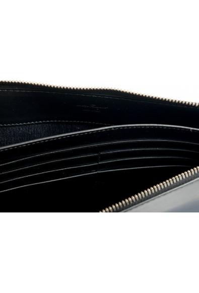 Salvatore Ferragamo Women's Black & Blue 100% Leather Wristlet Clutch Bag: Picture 2