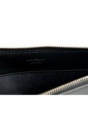 Salvatore Ferragamo Women's Black & Blue 100% Leather Wristlet Clutch Bag: Picture 3