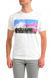 Dsquared2 Men's White Logo Print Crewneck T-Shirt