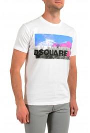 Dsquared2 Men's White Logo Print Crewneck T-Shirt : Picture 2