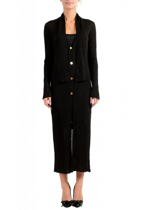 Just Cavalli Women's Knitted Wool Button Down Cardigan Dress