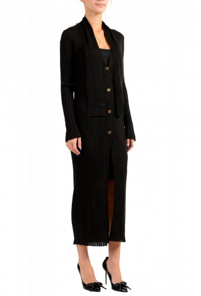 Just Cavalli Women's Knitted Wool Button Down Cardigan Dress: Picture 2