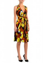 Just Cavalli Women's Multi-Color V-Neck Belted Fit & Flare Dress: Picture 2