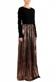 Just Cavalli Women's Sparkle Long Sleeve Evening Ball Gown Dress: Picture 2
