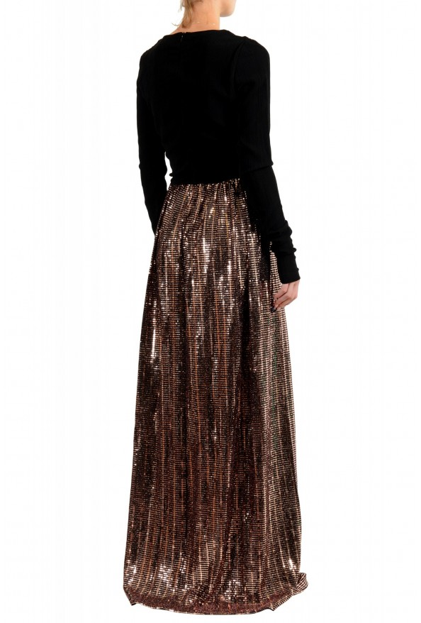 Just Cavalli Women's Sparkle Long Sleeve Evening Ball Gown Dress: Picture 3