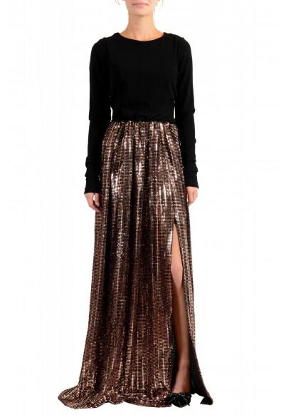 Just Cavalli Women's Sparkle Long Sleeve Evening Ball Gown Dress