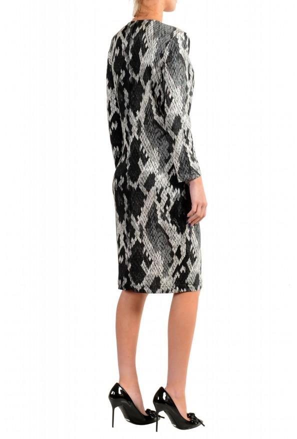 Just Cavalli Women's Multi-Color V-Neck Stretch Shift Dress: Picture 3