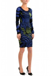 Just Cavalli Women's Multi-Color Boatneck Long Sleeve Bodycon Dress: Picture 2