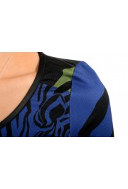 Just Cavalli Women's Multi-Color Boatneck Long Sleeve Bodycon Dress: Picture 4