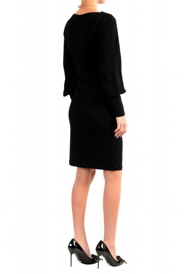 Just Cavalli Women's Black Long Sleeve Shift Dress: Picture 3