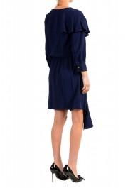Just Cavalli Women's Blue Asymmetrical Long Sleeve Dress: Picture 3