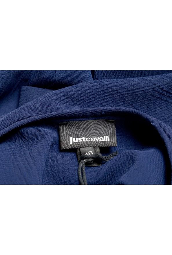 Just Cavalli Women's Blue Asymmetrical Long Sleeve Dress: Picture 5