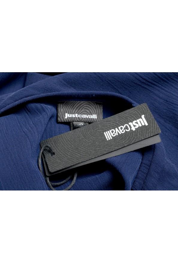 Just Cavalli Women's Blue Asymmetrical Long Sleeve Dress: Picture 6