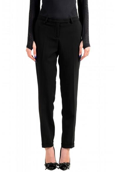 Moncler Women's Black Wool Dress Pants
