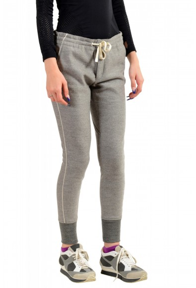 Moncler Women's Gray 100% Wool Casual Pants : Picture 2