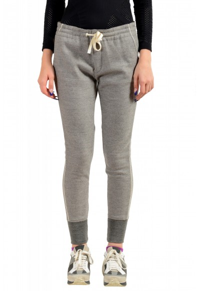 Moncler Women's Gray 100% Wool Casual Pants