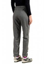 Moncler Women's Gray 100% Wool Casual Pants: Picture 3