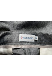 Moncler Women's Gray 100% Wool Casual Pants: Picture 4