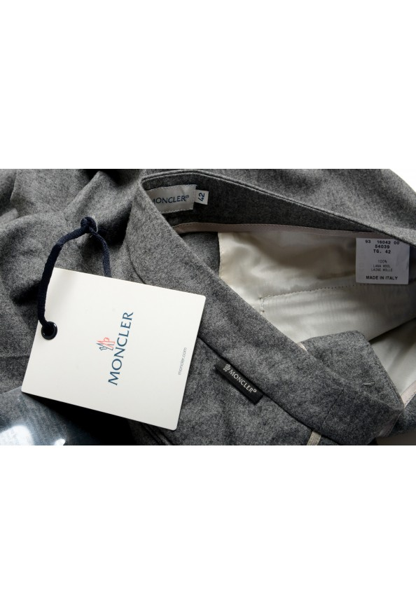 Moncler Women's Gray 100% Wool Casual Pants: Picture 5